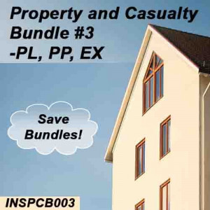 Florida: 200 hr Property and Casualty Pre-Licensing Course Plus Pass Prep and Practice Exam - Bundle #3